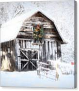 Early December Snowfall Morning Canvas Print