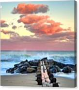 Early Evening At The Beach Canvas Print