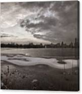 Early Evening Central Park In Winter Canvas Print
