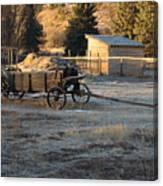 Early Farm Wagon Canvas Print