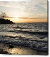 Early Lakeside - Waves Sand And Sunshine Canvas Print