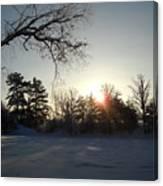 Early January Winter Sunrise Canvas Print