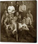 Early Monterey Baseball Team Circa 1895 Canvas Print