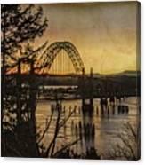 Early Morning At The Yaquina Bay Bridge  Canvas Print