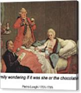 Early Morning Chocolate Canvas Print