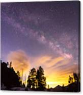 Early Morning Colorful Colorado Milky Way View Canvas Print