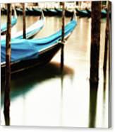 Early Morning Gondolas Canvas Print