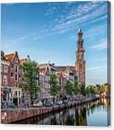 Early Morning In Amsterdam With Canal Canvas Print