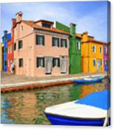 Early Morning In Isola Di Burano Canvas Print
