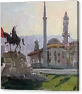 Early Morning In Tirana Canvas Print