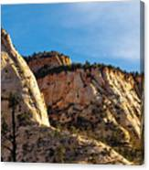 Early Morning In Zion Canyon Canvas Print