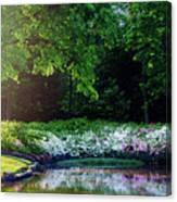 Early Morning Light At The Azalea Pond Canvas Print