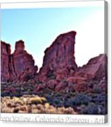 Early Morning Mystery Valley Colorado Plateau Arizona 05 Text Canvas Print