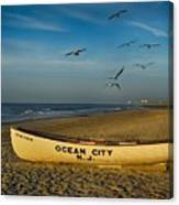 Early Morning Ocean City Nj Canvas Print