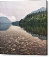 Early Morning On Lake Mcdonald II Canvas Print