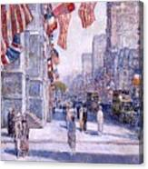 Early Morning On The Avenue In May 1917 - 1917 Canvas Print