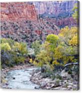 Early Morning On The Virgin River Canvas Print