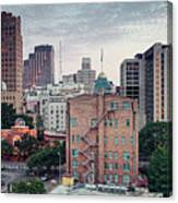 Early Morning Panorama Of Downtown San Antonio Skyline And Architecture - Bexar County Texas Canvas Print