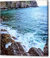 Early Morning Riomaggiore Cinque Terre Italy Canvas Print