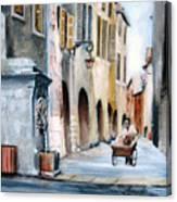 Early Morning Vendor  Canvas Print