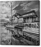 Early Sailing - Black And White Canvas Print