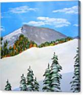 Early Sierra Snow At Ridgeline Canvas Print