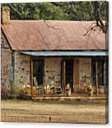 Early Texas Farm House Canvas Print