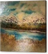 Early Winter Mountain Range Canvas Print