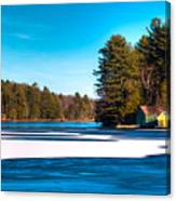 Early Winter On Old Forge Pond Canvas Print