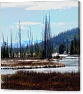 Early Winter On The Yellowstone Canvas Print