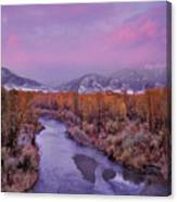 Early Winter Sunset Canvas Print
