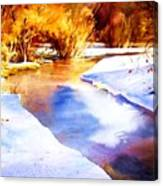 Early Wyoming Snow Canvas Print