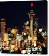 Earth Hour Spots A354 Canvas Print