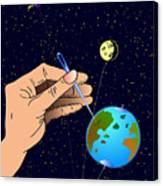 Earth Like An Inflatable Balloon Canvas Print