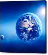 Earth Sunrise Deep Space Canvas Print
