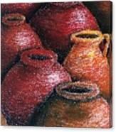 Earthen Vessels Iv Canvas Print