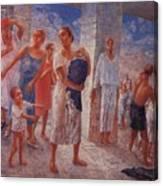 Earthquake In Crimea Kuzma Petrov-vodkin - 1927-1928 Canvas Print