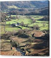 Easedale Beck, Landscape Canvas Print