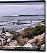 East Boothbay, Maine Ocean View, Framed Canvas Print