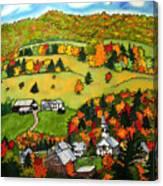 East Corinth Village Canvas Print