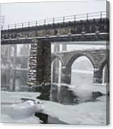 East Falls - The Frozen Schuylkill River Canvas Print