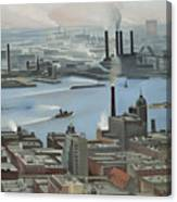 East River From Shelton Hotel Canvas Print