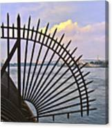 East River View Through The Spokes Canvas Print