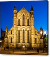 East Side Of Hexham Abbey At Night Canvas Print