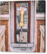 East Side Pay Phone Canvas Print