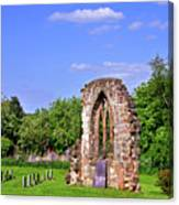 East Window Remains Of Old Church At Ticknall Canvas Print