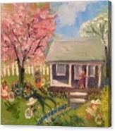 Easter At My House Canvas Print