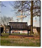 Easter Bench Canvas Print