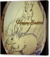 Easter Bunny  Greeting 5 Canvas Print