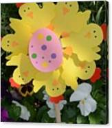Easter Chick Decoration Canvas Print